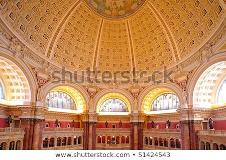 Zdjęcia stock: Ceiling Of Library Congress In Washington Dc