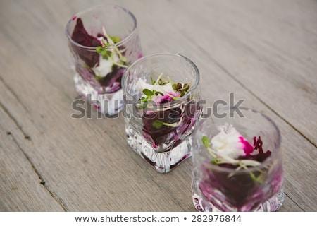 Kaviaar geitenkaas zalm komkommer vis plaat Stockfoto © stevemc