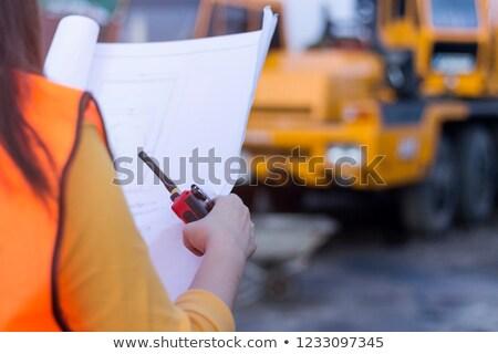 architect holding plans stock photo © photography33