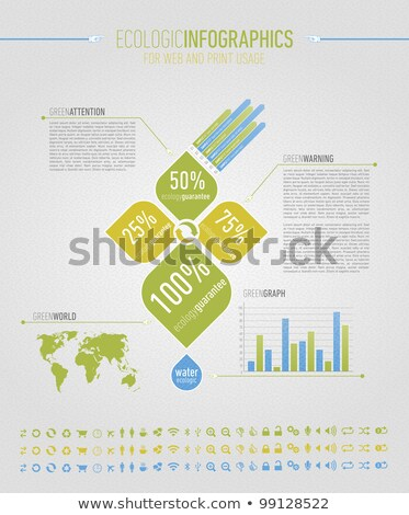 Ecologic infographic elements for web and print usage Stock photo © havlin_levente