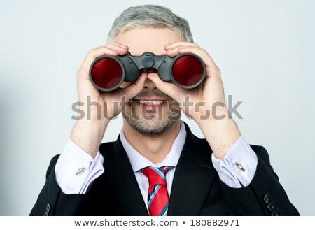 Kopott igazgató ellenőrzés látcső izolált fekete Stock fotó © stockyimages