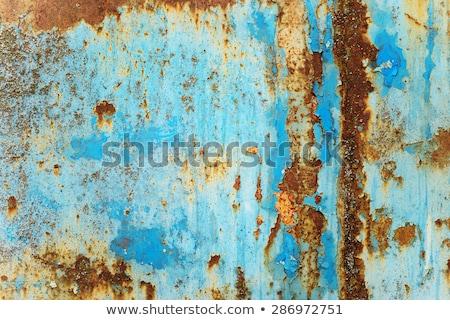 Cracked Paint On Rusty Metal Stok fotoğraf © Epitavi