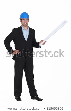 successful architect stood with rolled up blueprints stock photo © photography33