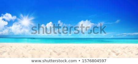Zee zonneschijn briljant zonlicht stralen zon Stockfoto © olgaaltunina