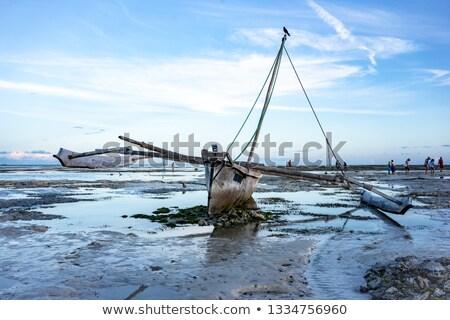 espera · água · dois · baixo · maré · praia - foto stock © jacojvr