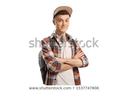 guy with headphones around his neck stock photo © stockyimages