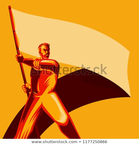 Political waving flag of USSR Stock photo © perysty