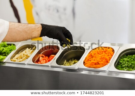 chef chopping vegetables stock photo © sumners