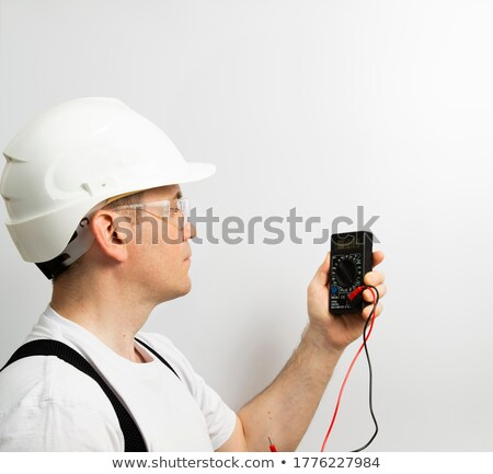 A female, plumber taking measures. Stock photo © photography33