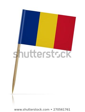 Miniatura bandiera Romania isolato business Foto d'archivio © bosphorus