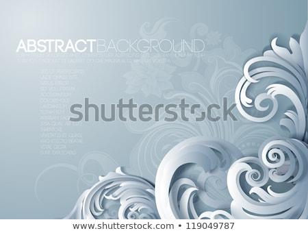 blue flourishes ornaments vintage style grunge background Stock photo © cherju