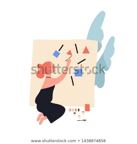 ремесленник · холст · работу · рубашку · вызова · художника - Сток-фото © photography33