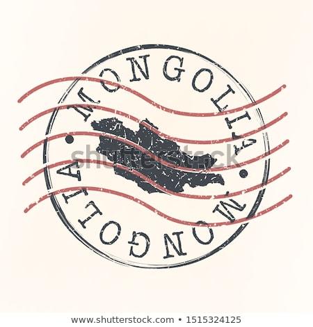 Posta bélyeg Mongólia nyomtatott tej művészet Stock fotó © Taigi