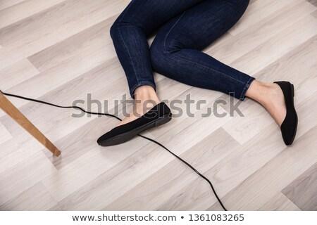 Careless woman electrician Stock photo © photography33