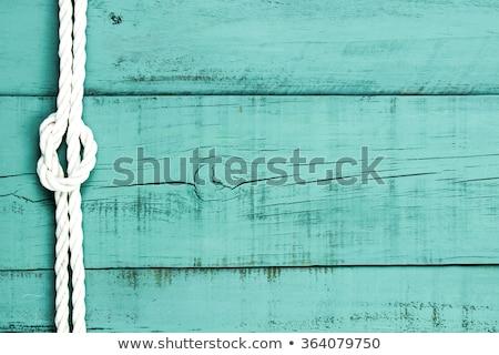 Ship rope and weathered wood background Stock photo © stevanovicigor