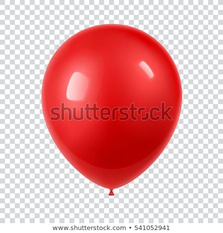 Kırmızı balon beyaz imzalamak finanse stok Stok fotoğraf © applicant79