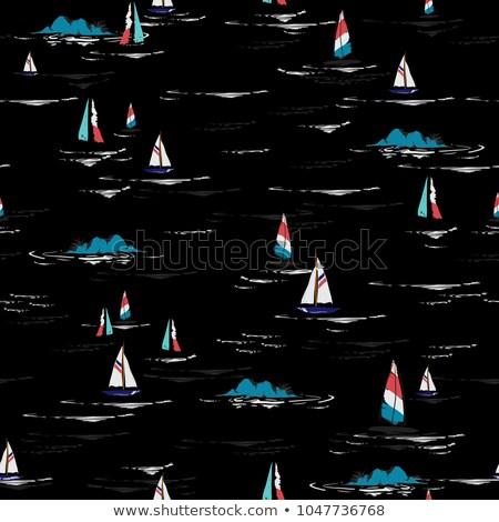 Trópusi windszörf víz felhők sport tenger Stock fotó © kwest
