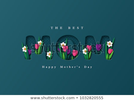flores · cartão · mães · dia · coração · mãe - foto stock © rosipro