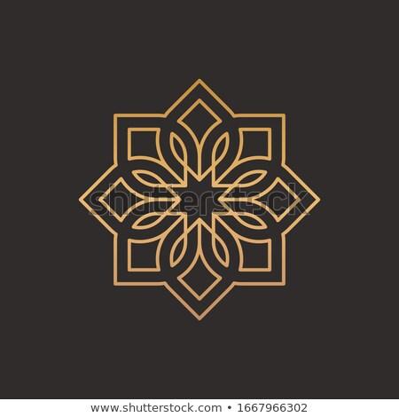 орнамент арабский стиль дизайна кадр шаблон Сток-фото © premiere