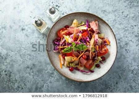 健康 緑 サラダ サラダドレッシング 小 ストックフォト © tab62