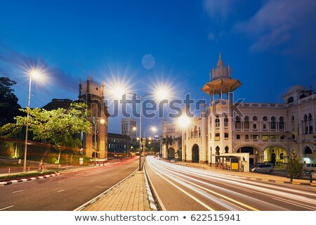 Stock photo: Old lamp on an old railway station