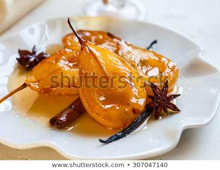 poached pear with syrup Stock photo © M-studio