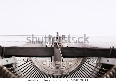 red typewriter with white paper Stock photo © pterwort