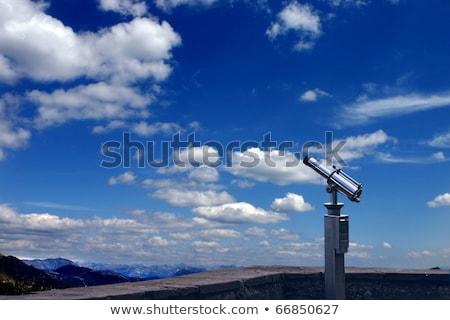 Błękitne niebo niebieski świetle teleskop powiększyć optyczny Zdjęcia stock © gophoto