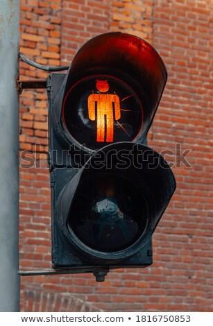 Otobüs durağı sinyal kırmızı trafik ışıkları iş Stok fotoğraf © lunamarina
