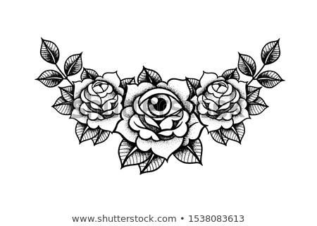 抽象的な 入れ墨 デザイン 背景 レトロな シルエット ストックフォト © jelen80