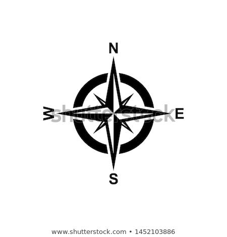 wereldbol · kompas · oude · papier · grunge · kaart - stockfoto © compuinfoto