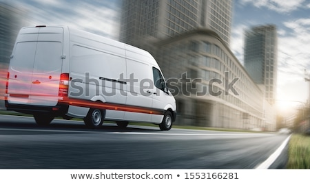 Witte commerciële kleur vervoer levering Stockfoto © Supertrooper