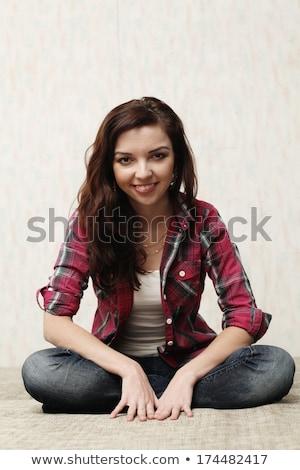 Foto mooi meisje stijl pinup meisje portret Stockfoto © pandorabox