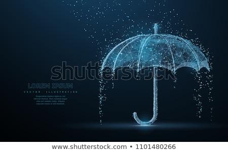 вектора символ зонтик защиту дождь капли Сток-фото © freesoulproduction