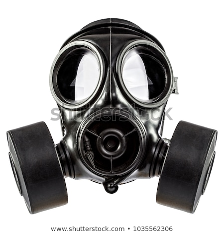 Gaz maskesi eski bağbozumu beyaz yüz dünya Stok fotoğraf © stevemc