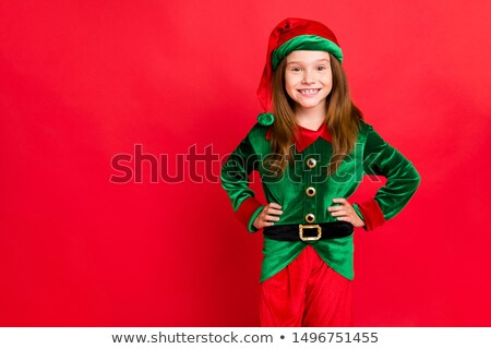 Foto stock: Portrait Of A Young Female Xmas Costume