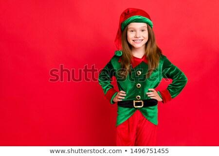 portret · podniecony · uśmiechnięty · dziewczyna · christmas - zdjęcia stock © pxhidalgo
