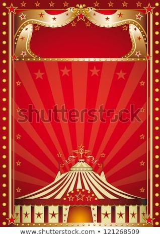 Natale circo poster nuovo Natale compleanno Foto d'archivio © tintin75