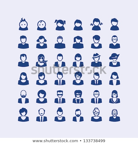 Baby boy faces, avatar vector icons set Stock photo © RedKoala