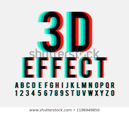 3D знак красный cyan изолированный белый Сток-фото © digitalgenetics