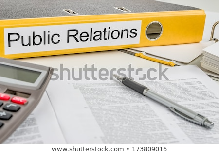 Folder with the label Public Relations Stock photo © Zerbor