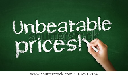 Unbeatable Prices Chalk Illustration Stock photo © kbuntu