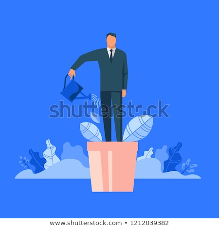 Personal Development on Blue in Flat Design. Stock photo © tashatuvango