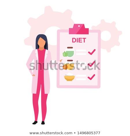 Diétás konzultáció fiatal nő készít telefon nő Stock fotó © Novic