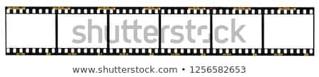 35mm filmszalag keret illusztráció izolált fehér Stock fotó © digitalmagus