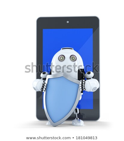 armado · robô · segurança · isolado · branco · teia - foto stock © kirill_m