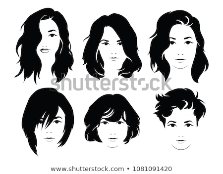 Set of hairstyles for woman isolated on white background Stock photo © elenapro