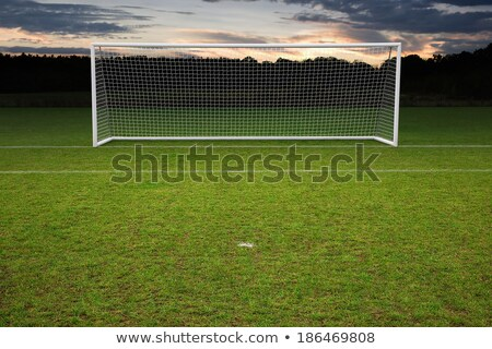 empty football goals at sunset stock photo © bradleyvdw