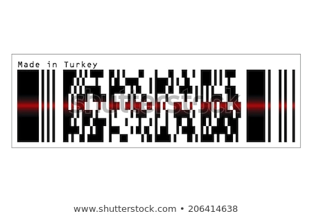 Bar Code icon and red laser sensor beam over Turkey Stock photo © Istanbul2009