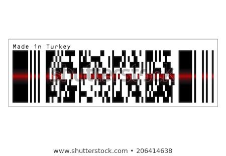 Código de barras ícone vermelho laser sensor viga Foto stock © Istanbul2009